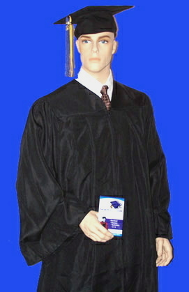 bachelor's cap and gown