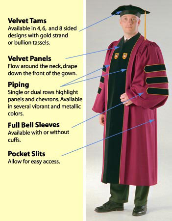 custom doctoral robe