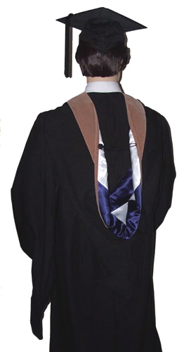 master's cap and gown